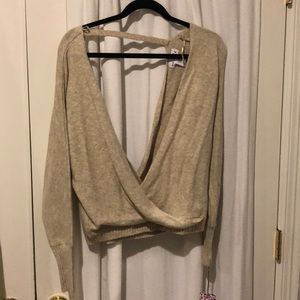 Deep v low back long sleeve/sweater